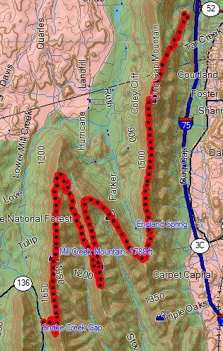 Snake Creek TT 14 mile route